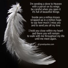 loving memory quotes | … sending a dove to Heaven with a parcel on its wings – In Loving Memory