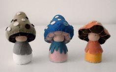 mushroom plush toys by shroompers via etsy