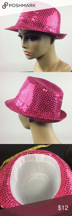 New Hot Pink Sequin Hat 🎩 🌺Bundle 3 or more items and save 20% 🌺 Any questions let me know. Accessories Hats