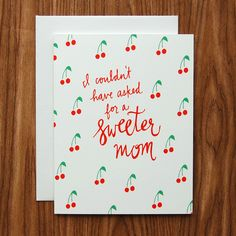 Happy Cactus Designs Sweet Mom Mother's Day Card