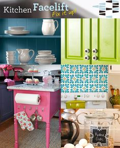 91 Budget Ideas for the Kitchen >> http://www.diynetwork.com/kitchen-facelift/package/index.html?soc=pinterest