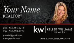 Keller Williams Business Card with new logo!  One of the most popular designs!