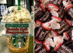 Starbucks Tootsie Roll Frappuccino- Oh the Tootsie Roll. It's neither taffy nor caramel but an entire class of its own that comes from its delicious, chocolaty fun to eat nature and equally fun name.