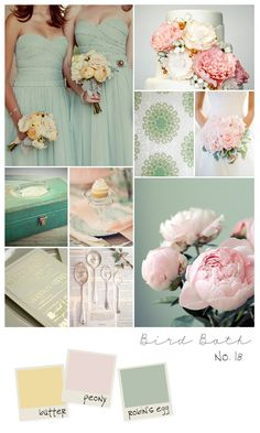 the more i see the mint and blush combo..the more it is growing on me.. spring wedding