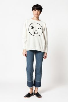 Older Brother Anti Fit Crew Sweater, Rachel Comey Slim Legion, Vayarta Leather Slip-On