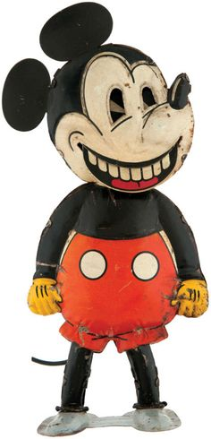 MICKEY MOUSE GERMAN WIND-UP WITH MOVING MOUTH.