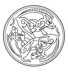Celtic Boar Triad by darazan.deviantart.com on @deviantART