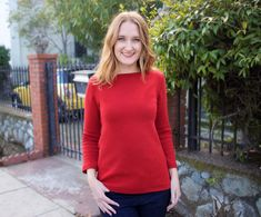 Made By Meg: Red Wool Sweater Top