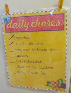 Another chore chart