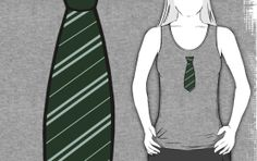 Cute New Tank Top!  Harry potter tank, slytherin, hogwarts, potter, ties, work out, exercise clothes,