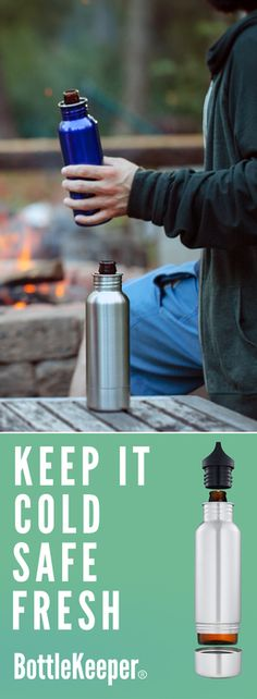 Lined with neoprene and padded for serious impact, BottleKeeper does what a regular koozie can't: it keeps your beer cold and safe, wherever you go. Protect your beer from the elements with BottleKeeper.    http://www.bottlekeeper.com/?utm_source=Pinterest&utm_medium=1.5P