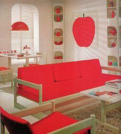 1971 'Apple Room' interior design.
