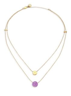 Michael Kors - Summer Rush Layered Amethyst Chain Necklace