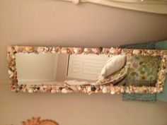 Sea shell mirror ~ made by Michele and Lauren Blumenstock! <3
