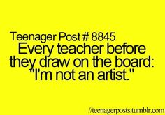 Every teacher before drawing
