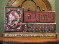 Would look perfect on @Dawn Treece's fireplace. Grandma Sign  Grandma's House  Where by PunkinSeedProduction, $35.00