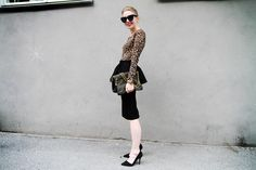 Not usually a fan of peplum skirts but love this look here.  Might have to get it.