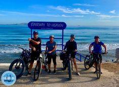 fietsen-in-griekenland-en-kreta Stairway To Heaven, Stairways, Bicycle, Crete Holiday, Bike Trails, Mountain Landscape, Bike Rides, Riding Bikes, Explore