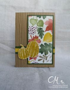 Caros Bastelbude: Stampingirls Smart Saturday Challenge #52 mit einem Sketch, Fall Fest, DSP Bunter Herbst