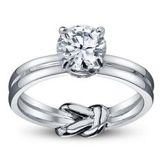 love the hidden knot and double band but would prefer princess cut