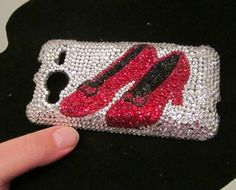 Wizard of Oz ruby slipper swarovski crystal cell phone case - Fun!