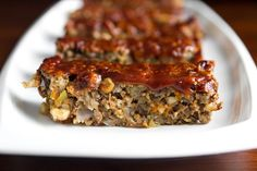 Glazed Lentil Walnut Apple Loaf recipe. #vegan, and easily adaptable for #glutenfree: replace oat flour with a gf flour like bob's red mill gf ap flour, and find or make gf bread crumbs.
