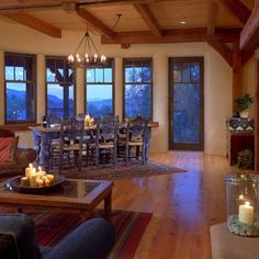 Southwestern Kitchen Colored Cabins Design, Pictures, Remodel, Decor and Ideas