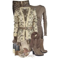 """Winter is Coming...Snowflake Cardigan"" by jackie22 on Polyvore"