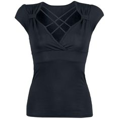 "Gothicana ""Strap Shirt"" -naisten T-paita, 95% viskoosia, 5% elastaania."