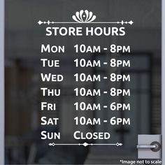 Custom Business Hours   Stickertitans.com   Custom Business / Office / Shop / Salon / Restaurant Open Hour Vinyl Decal   Hours of Operation   Our Vinyl Signs are made from Oracal 651   470-585-2229 Doctor Office, Vinyl Signs, Store Hours, Business Logo, Vinyl Decals, Restaurant, Projects, Shop, Barber