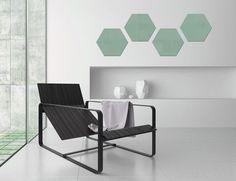 Glas-magneetbord artverum® Smoky-Green, 40 x 46 cm