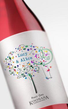 Koonara wine Label Design by Ana Popova, via Behance #taninotanino #vinosmaximum