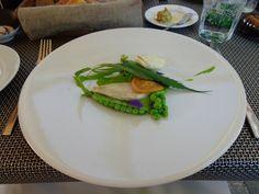 Baltic sea flounder, sweet green peas, caramelized lemon @ Restorāns Vincents