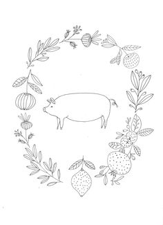 Illustration for new counter style colouring book by Ryn Frank