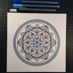 "Mandala Designs, woerm: Daily Mandala #26 ""Within Siddhartha..."