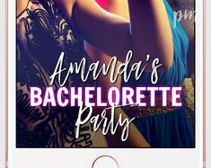 Customize your own Snapchat Geofilter for your bachelorette party! This geofilter features completely editable design elements. You can change the text colors to any color you want. What a fun way for all your girls to celebrate your bachelorette party with the pictures they take on their own phones!   ★CHANGE ANY COLOR IN THIS DESIGN  Unlimited colors. You can change the design elements in this geofilter to any color! Test it out in the demo below.   ★EDIT RIGHT IN YOUR BROWSER WITH…