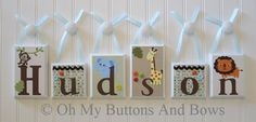 Custom Nursery Decor . Nursery Name Blocks . by OhMyButtonsAndBows