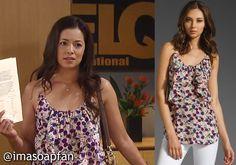 I'm a Soap Fan: Sabrina Santiago's Ruffled Pink Floral Top - General Hospital, Season 53, Episode 17, 04/23/15 #GH #GeneralHospital