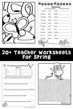 Over 20 Free Printable Spring Worksheets Covering Science Math Reading And Language Arts