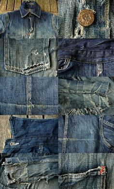 vintage denim jacket ragtop clothing LONG JOHN (1) |
