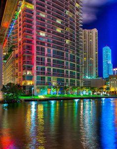 Colorful Miami Beach, Florida  CORRECTION: Brickell, Miami