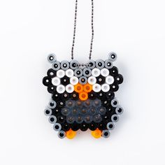 Owl pendant hama beads by VingborgDesign