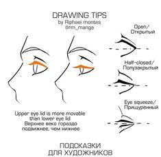 Drawing tips — Eyes . ✏️ Source / Credi