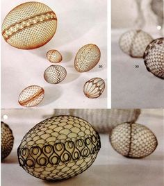 some more eggs decorated with wire Magazine Crafts, Egg Designs, Egg Art, Wire Wrapped Rings, Egg Decorating, Wire Art, Vogue Knitting, Marsala, Wire Wrapping