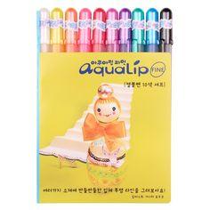 Amazon.com: Sakura Pgb10c51 Aqualip 10-piece Gelly Roll Blister Card Gel Ink Pen Set, Fine Point 0.6mm, Assorted Colors