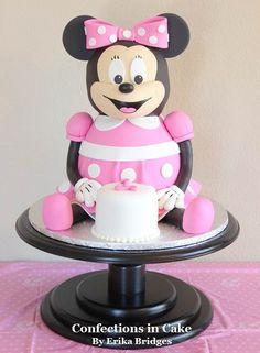 Minnie Mouse doll cake for Avas birthday Cakes Pinterest