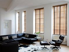 Made to measure Venetian blinds in Tawny with Jet Tapes. Available at EK Shutters & Blinds www.ek-shutters-blinds.com 01227 656090 #vertical #blinds #livingroom # interiors #home #localbusiness