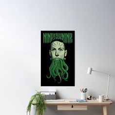 'HP Lovecraft Cthulhu' Poster by Ikaroots Lovecraft Cthulhu, Hp Lovecraft, Framed Prints, Canvas Prints, Art Prints, Call Of Cthulhu, Love Craft, Dark Fantasy, Floor Pillows
