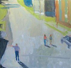 STEPHEN DINSMORE Urban Yard, Trio Oil on Canvas 36 x 36