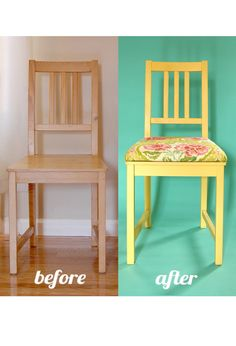 Add a cushion to your dining chairs furniture DIY